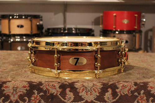 "3.5"" x 12"" 7drums Custom Piccolo Snare Drum - Texas Aged Red Stain"
