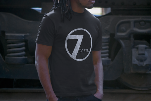 7drums Logo Tee - Crew Neck Black