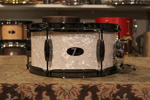 "6"" x 12"" 7drums Custom Snare Drum - Vintage White Wrap"