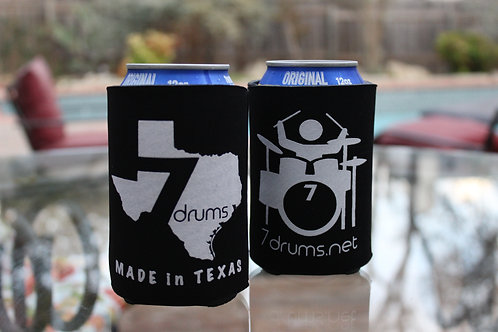7drums Logo Black Koozie