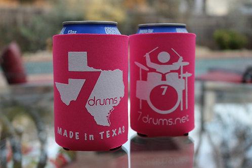 7drums Logo Neon Pink Koozie