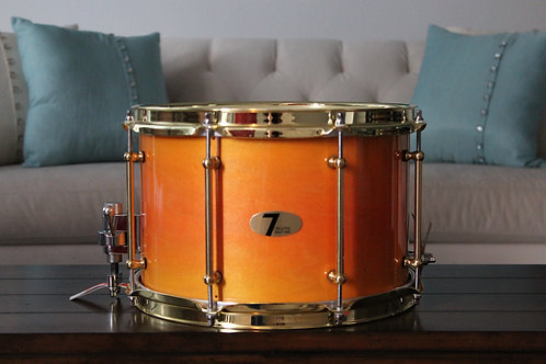 "8"" x 12"" 7drums Custom Snare Drum - Sunset Stain"
