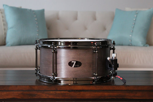 "6"" x 12"" 7drums Custom Snare - Texas Ebony Stain"