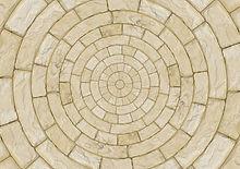 Circolare pavimento di pietra