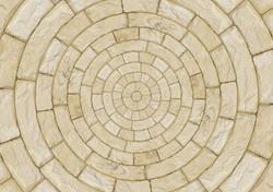 Kreisförmige Steinboden