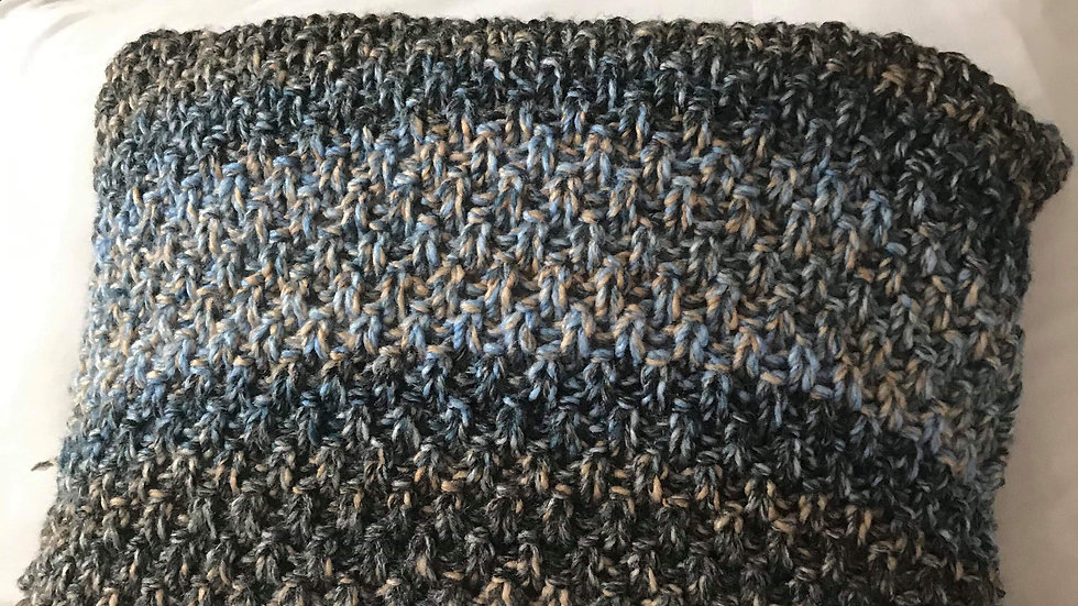 Oceans of Blue Cushion Net Stitch