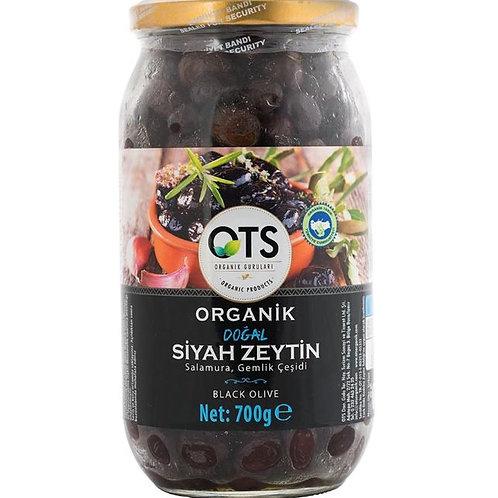 OTS Organik Gemlik Yağlı Salamura Siyah Zeytin 700 Gr