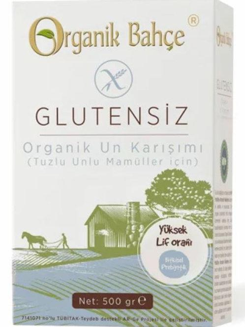 Organik Bahçe Organik Glutensiz Tuzlu Unlu Mamüller İçin Un Karışımı 500 Gr.