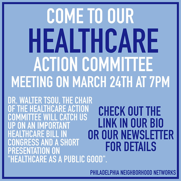 Healthcare Action Committee Meeting