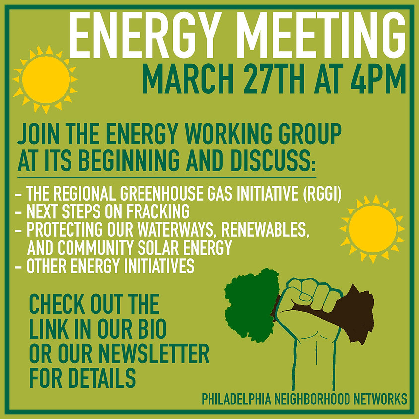 Energy Working Group Meeting