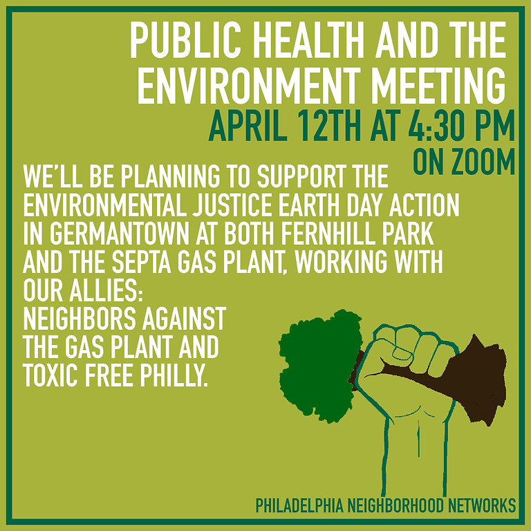 Public Health and the Environment Working Group Meeting