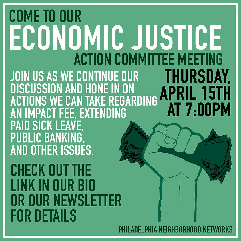 Economic Justice Action Committee Meeting