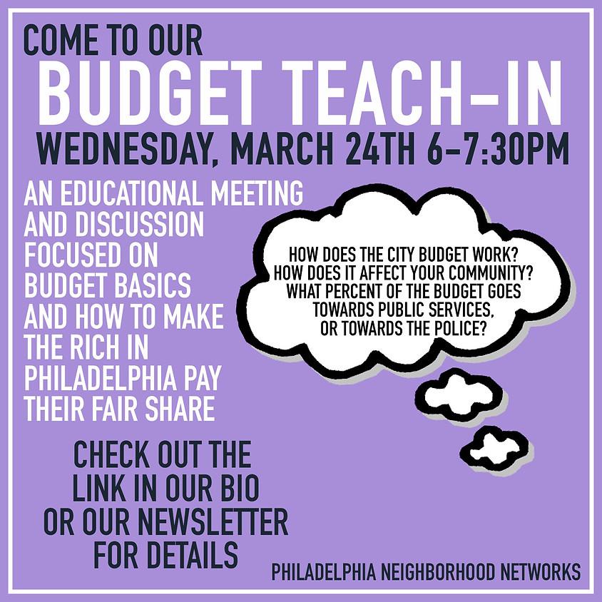 Budget Teach-In