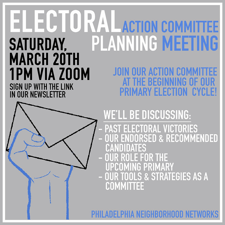 Primary Election Planning Meeting