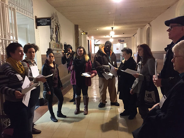 Public Banking. People getting ready to lobby city council members on public banking lobby....17.jpg