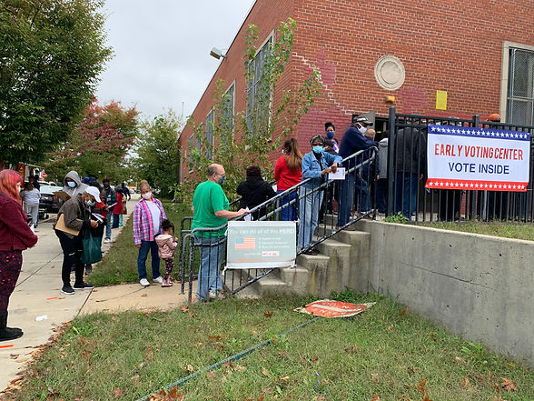 Early Voting Center voter lines at AB Da