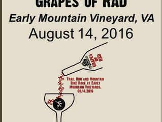 Get your wine at the finish line at the inaugural Grapes of Rad this Sunday!