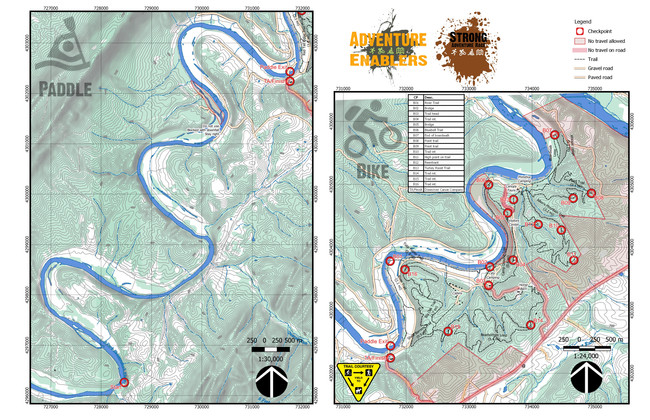 Paddle and Bike Map