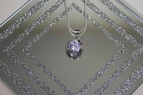 Silver Diamante Pendant
