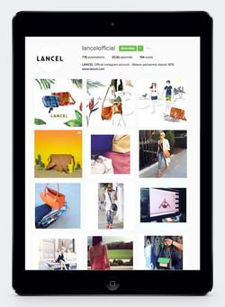 Campagne Instagram Lancel Julia Perrin