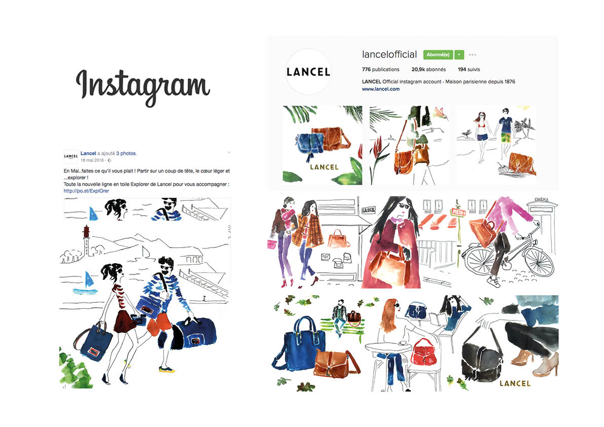 LANCEL illustrations mode Julia Perrin