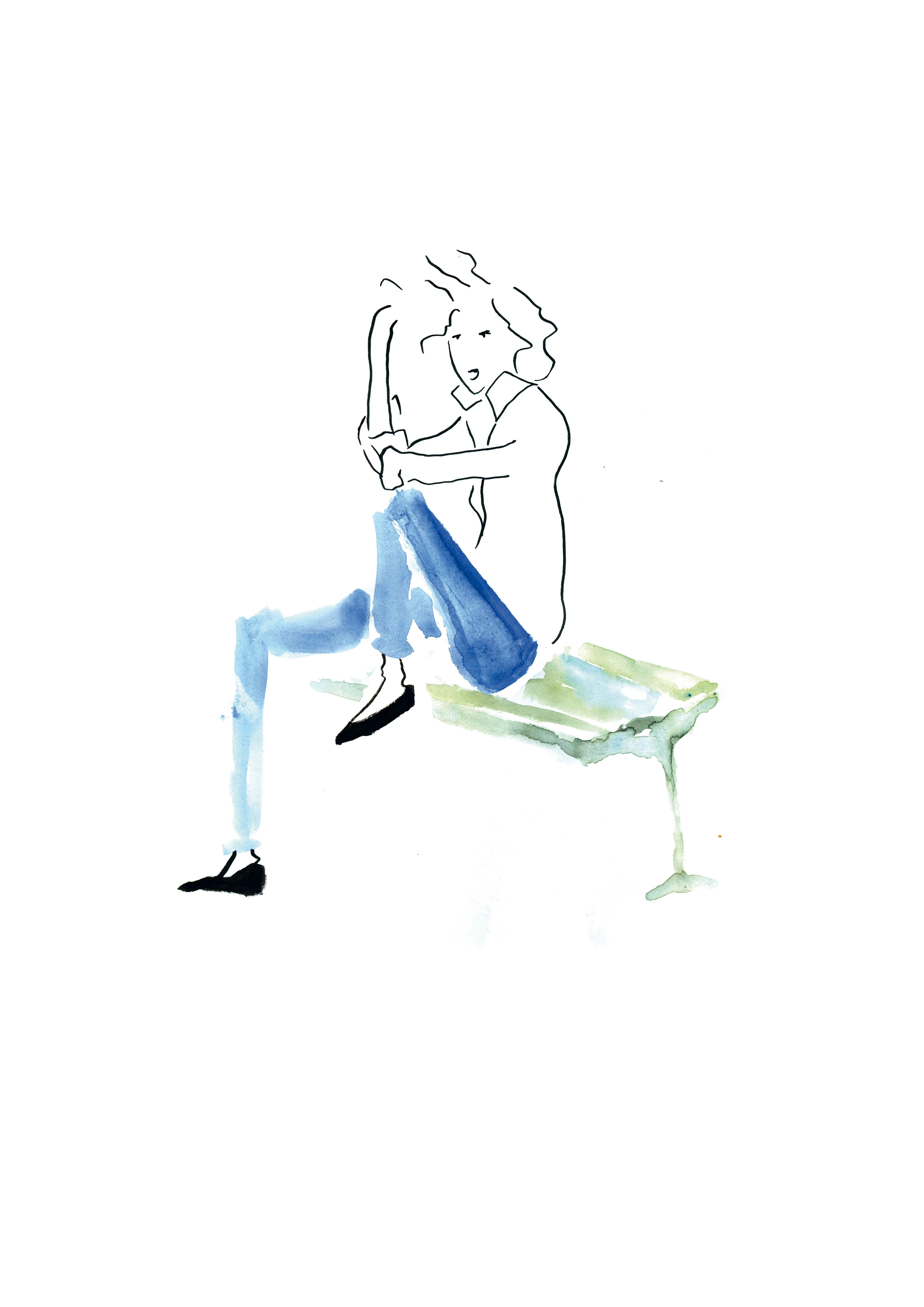 Parisienne sur banc