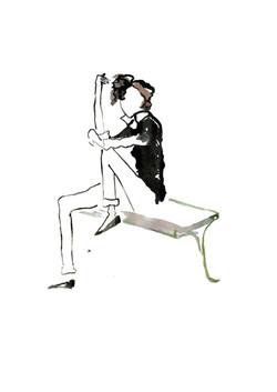 Parisienne sur le banc
