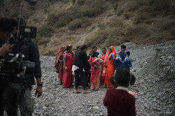 Director Karishma Dube with extras