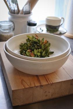 white and natural bowl