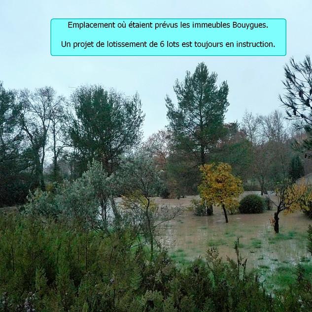 Emplacement des projets d'immeubles Bouygues