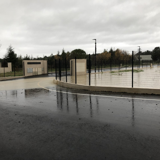 Avenue Georges de Fabry - Le lotissement sert de bassin de rétention