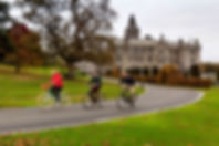 medium-Cycling in front of Adare Manor L
