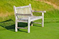 Arcadia Bluffs. Golfers Bench