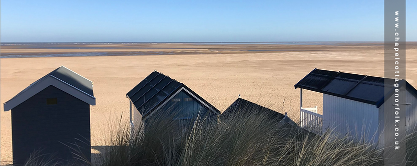 Wells beach huts in Winter Norfolk