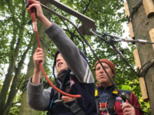 Holkham estate high ropes course