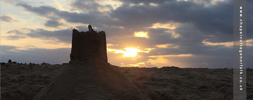 Sandcastle dusk wells-next-the-sea beach Norfolk Coast
