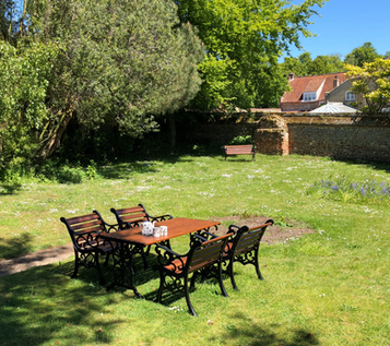 Chapel Cottage's back garden