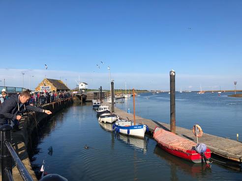 Wells quay, gillie crabbing