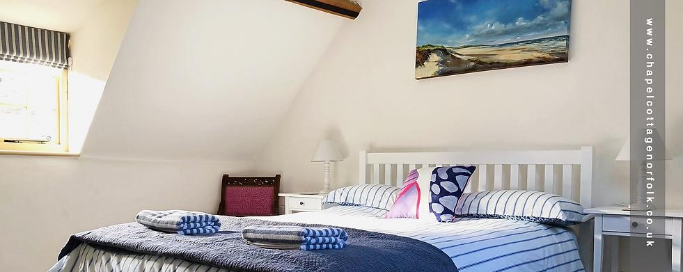 Master bedroom, Chapel Cottage Warham