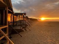 Wells beach at dusk