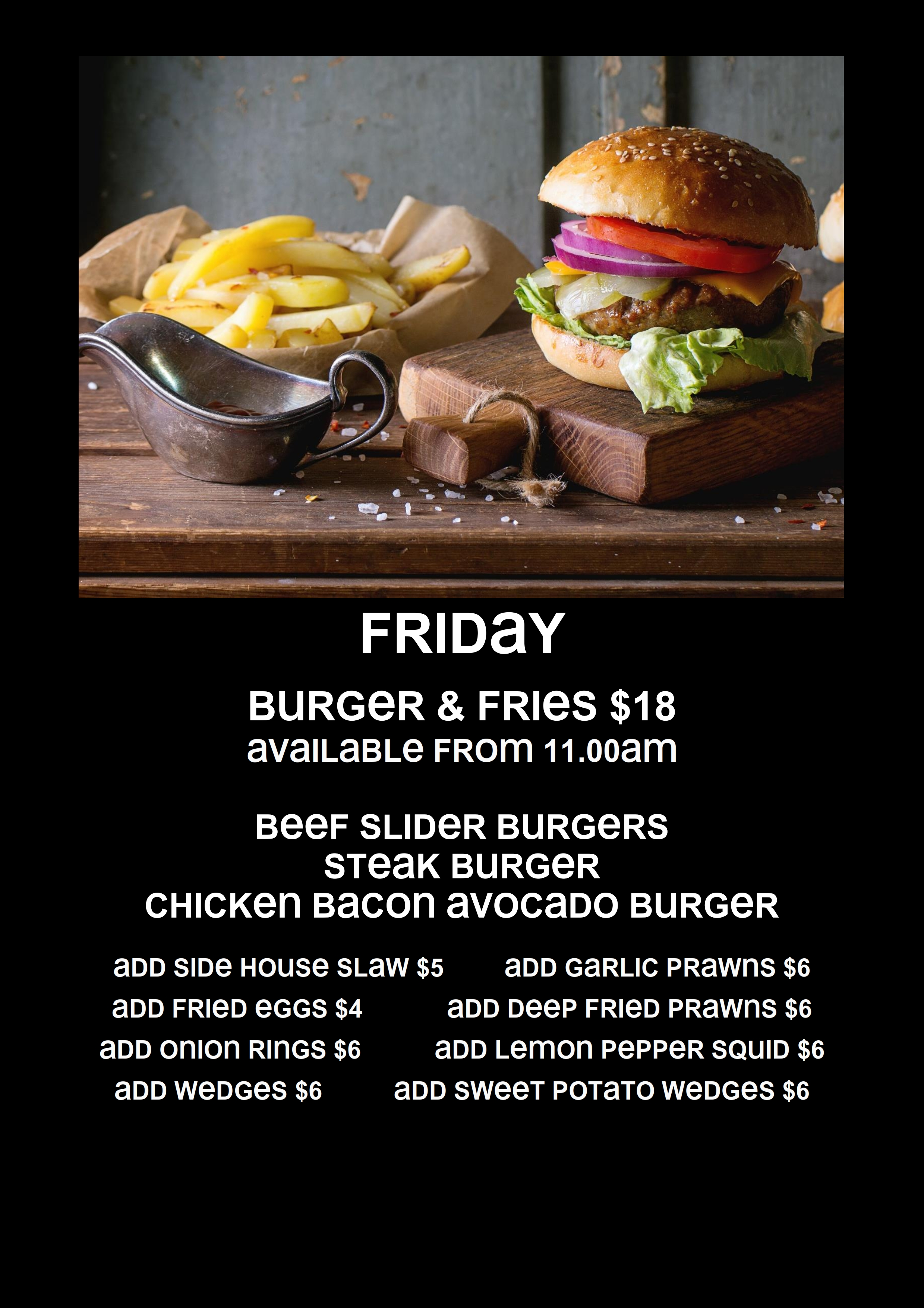 Friday Burgers