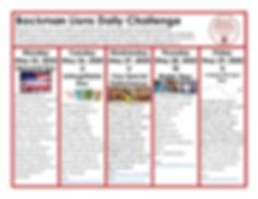 Backman Lions Alphabet Challenge Week 5