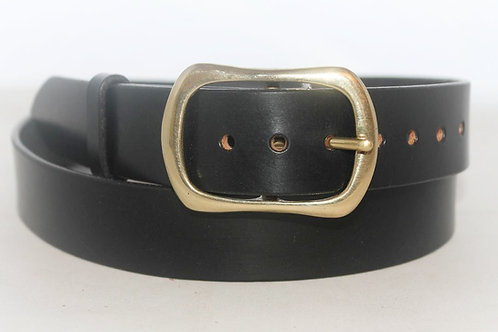 """1 ½"""" Plain Belt with solid brass buckle 