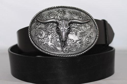 Belt buckle Skull Plate | Pewter platted buckle | DD177
