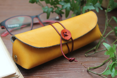 Glasses case yellow   Triangular shaped case