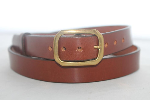 """Plain belts 1"""" with Solid Brass Buckle"""