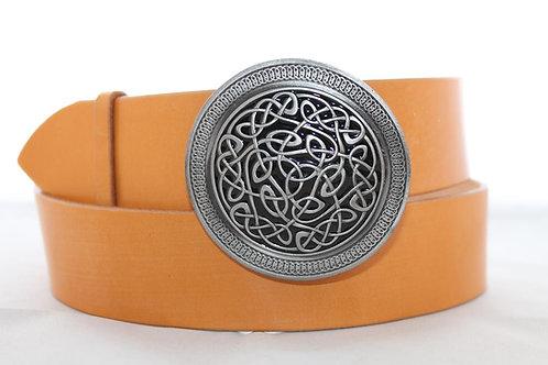 Black Celtic knot Belt buckle | Pewter platted buckle | T1005BL