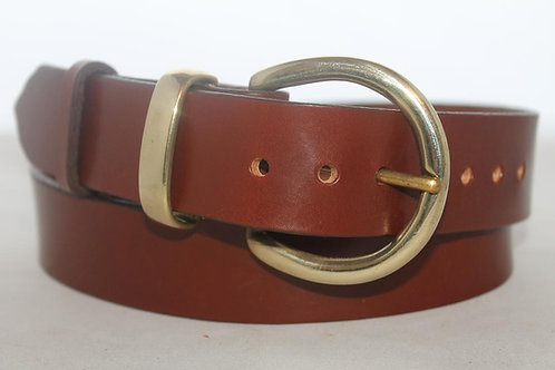 "1½"" Plain Belt with solid brass buckle, semi-circle"