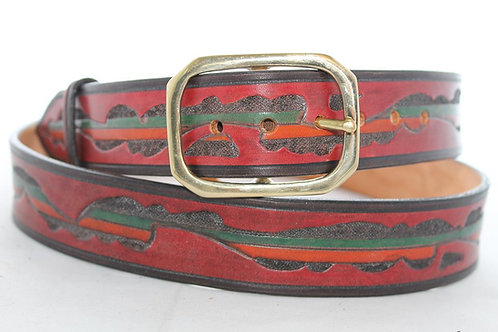 "Beara Belt Hand Tooled, 1½"" wide, BB032"