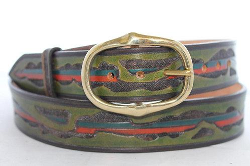 """Beara Belt Hand Tooled, 1½"""" wide, BB029"""
